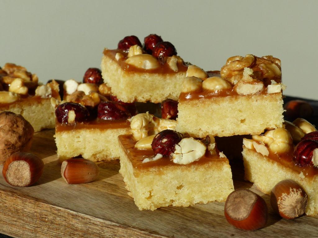boterkoek noten gezouten karamel